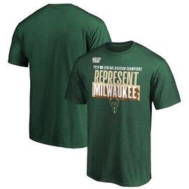 Fanatics Milwaukee Bucks Division Champions Men's Short Sleeve Tee