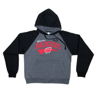 Signature Concepts Wisconsin Badgers Men's Titan Laser Pullover Hoodie