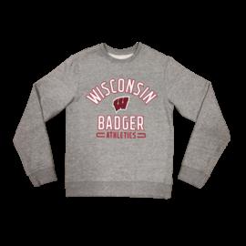Fanatics Wisconsin Badgers Men's Iconic Fleece Team Arc Stack Crew Sweatshirt