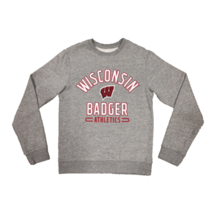 Fanatics Wisconsin Badgers Men's Iconic Fleece Team Arc Stack Crew Sweatshirt