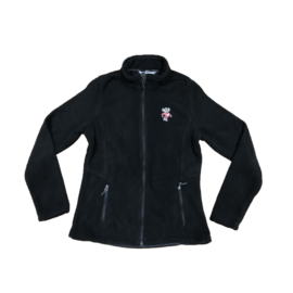 Signature Concepts Wisconsin Badgers Women's Black Bucky Fleece Full Zip Lightweight Jacket