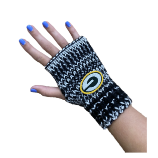 G III Green Bay Packers Women's Black and White Fingerless Gloves