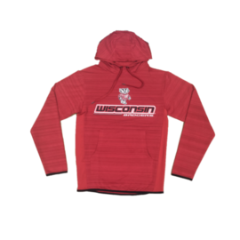 Signature Concepts Wisconsin Badgers Men's Dark Knight Pullover Hoodie