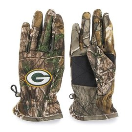'47 Brand Green Bay Packers Realtree Fleece Gloves