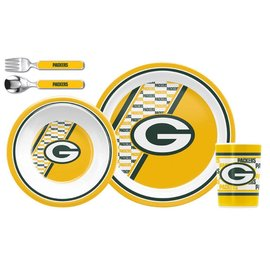 Duck House Green Bay Packers 3 Pc Kids Dinner Set