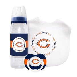 Baby Fanatics Chicago Bears Gift Set: Bottle, Bib,  & Pacifier
