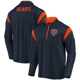 Fanatics Chicago Bears Men's Defender Mission Poly 1/4 Zip