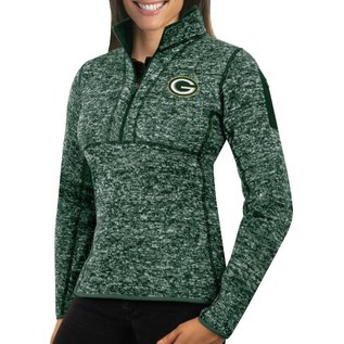 Antigua Green Bay Packers Women's Fortune 1/4 Zip
