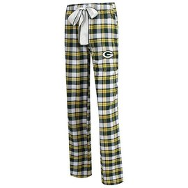 College Concepts LLC Green Bay Packers Women's Tee Up Flannel Pants