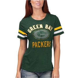 G III Green Bay Packers Women's Extra Point Short Sleeve Tee