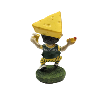 "Green Bay Packers 4"" Cheesehead Bobblehead"