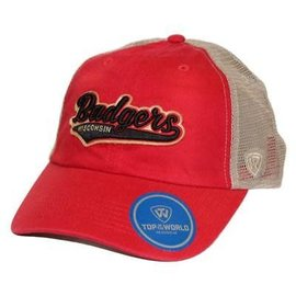 Top Of The World Wisconsin Badgers Men's Club Mesh Back Adjustable Hat