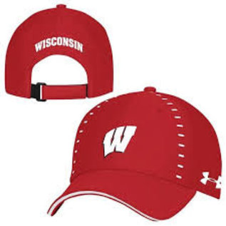Under Armour Wisconsin Badgers Under Armour Blitzing Sideline Adjustable Hat