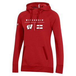 Under Armour Wisconsin Badgers Women's Campus Fleece Pullover Hoodie