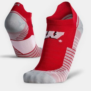 Under Armour Wisconsin Badgers Men's Run No Show Socks - Size Large