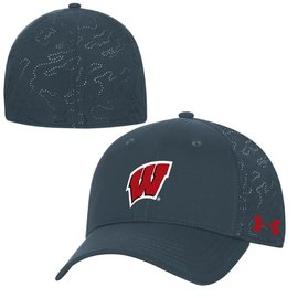 Under Armour Wisconsin Badgers F20 Tech Train Stretch Fit Hat