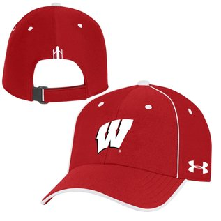 Under Armour Wisconsin Badgers Isochill Blitzing Accent Adjustable Hat
