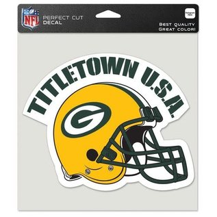 WinCraft, Inc. Green Bay Packers 8x8 Colored Perfect Cut Decal - Titletown & helmet