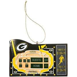 Evergreen Enterprises Green Bay Packers Scoreboard Ornament