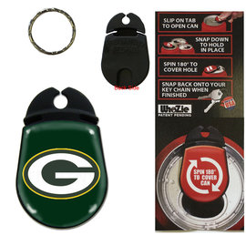 Green Bay Packers Tab Can Keychain