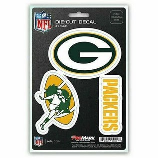 Promark Green Bay Packers Die Cut Decal-3 Pack