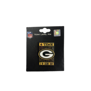 Green Bay Packers 4X Superbowl Champ Pin