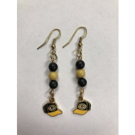 Gift Pro Green Bay Packers Dangle Earrings - Beads with Cap