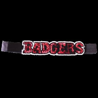 Wisconsin Badgers Sequin & Beads Head Band