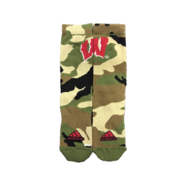 Adidas Wisconsin Badgers Camo Socks Size Large