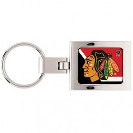 WinCraft, Inc. Chicago Blackhawks Square Domed Keychain
