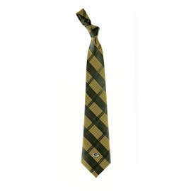 Eagles Wings Green Bay Packers Skinny Plaid Tie