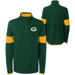 Outerstuff Green Bay Packers Youth Yard Line 1/4 Zip