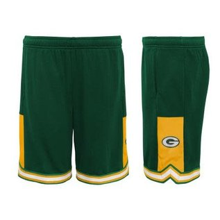 Outerstuff Green Bay Packers Youth Stated Mesh Shorts