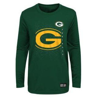 Outerstuff Green Bay Packers Youth Ignition Long Sleeve Ultra Tee