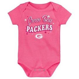 Outerstuff Green Bay Packers Newborn My Team Pink Creeper