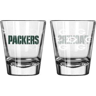 Boelter Brands LLC Green Bay Packers 2oz Wordmark Shot Glass - All Over Gs
