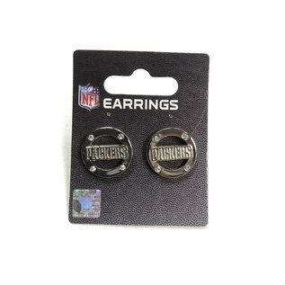 Aminco Green Bay Packers Silver Circle with Studs & Packers Post Earrings