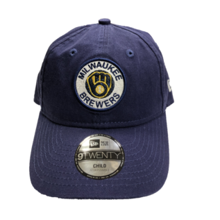 New Era Milwaukee Brewers Youth 9-20 Shiny Patch Adjustable Hat