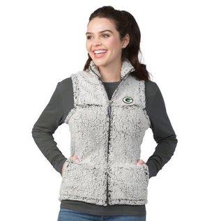 G III Green Bay Packers Women's Full Zip Sherpa Vest