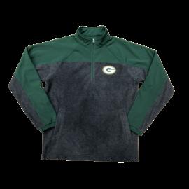 G III Green Bay Packers Men's Nylon and Fleece 1/4 Zip