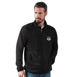Green Bay Packers Men's Black Track Jacket