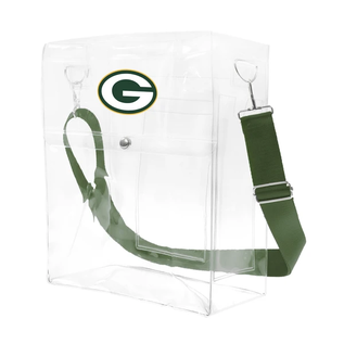 Little Earth Green Bay Packers Clear Ticket Satchel