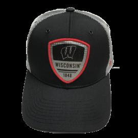 Zephyr Wisconsin Badgers Armour Adjustable Snapback Hat