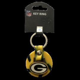 Aminco Green Bay Packers Rubber Swirl Keychain