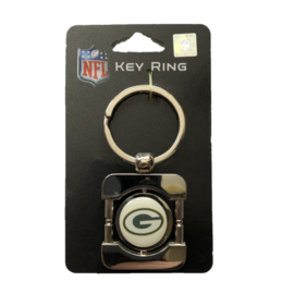 Siskiyou Sports Green Bay Packers White Face Spinner Keychain