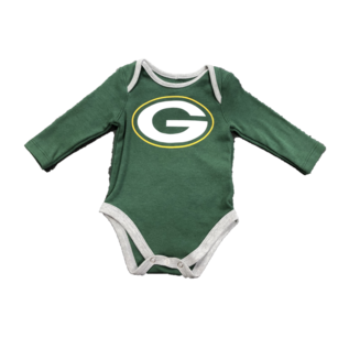 Outerstuff Green Bay Packers Infant Trophy Long Sleeve Onesie