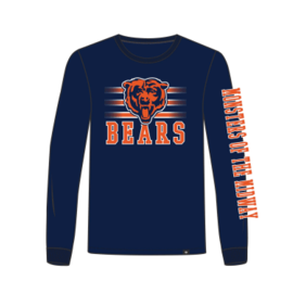 '47 Brand Chicago Bears Men's Power Rush Rival Long Sleeve Tee