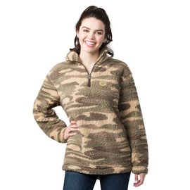 Green Bay Packers Women's Camo Sherpa 1/4 Zip Jacket