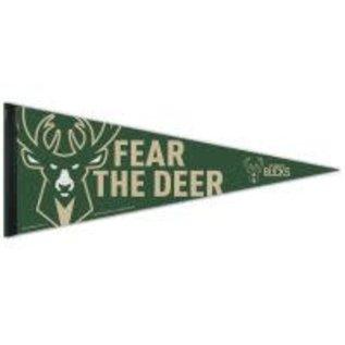 WinCraft, Inc. Milwaukee Bucks 12x30 Fear The Deer Felt Pennant