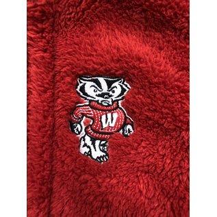 Zoozatz Wisconsin Badgers Women's Double Knit Sherpa Vest